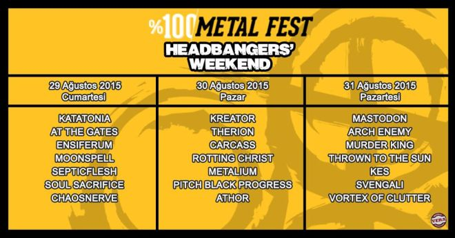Headbangers' Weekend programı